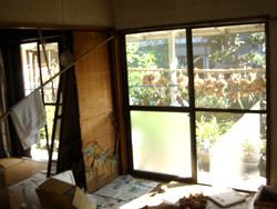 南面に、掃き出し窓が並ぶ和室2部屋。