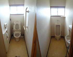 女性用、男性用トイレ。