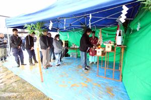 上越市ゼロエネ住宅 地鎮祭