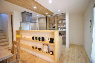 妙高市 自然素材の家 キッチン