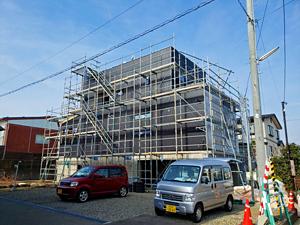 妙高市 ZEH新築 外壁工事