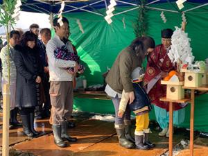 新潟県上越市 ゼロエネ住宅 地鎮祭