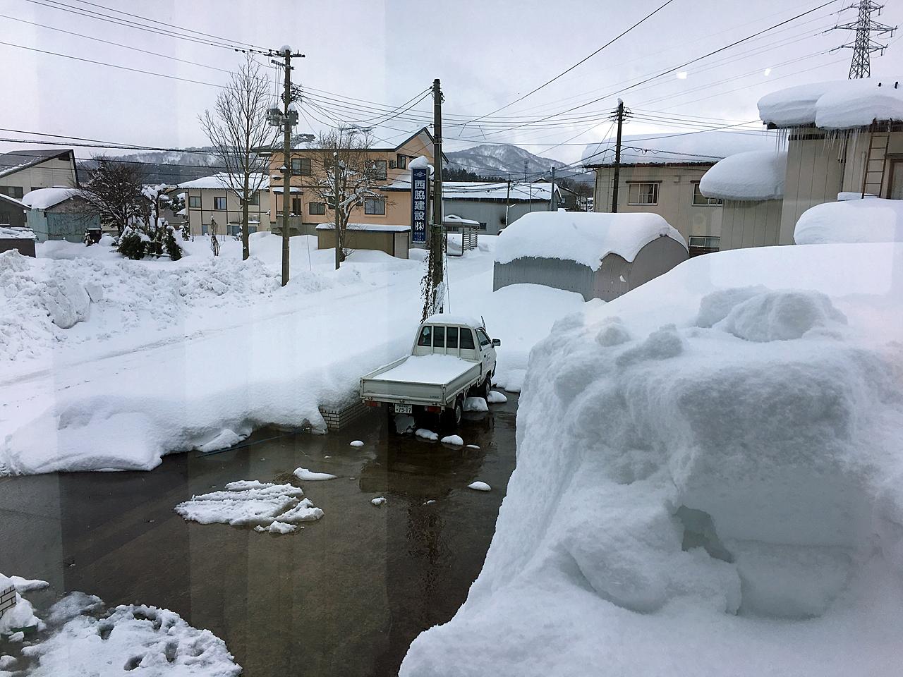 妙高市の雪