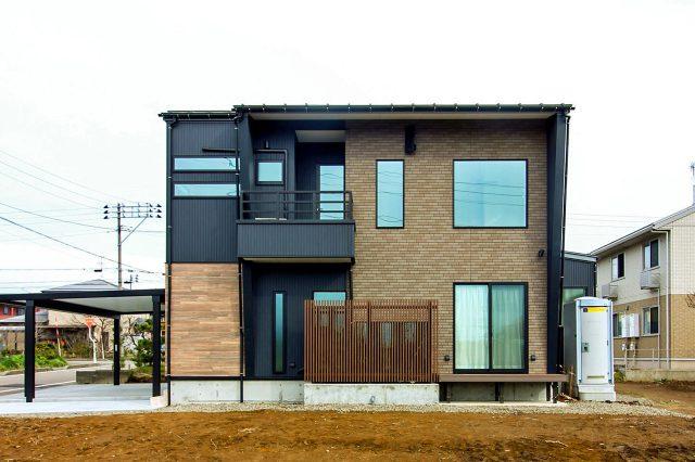 上越市 住宅新築 モダン外観