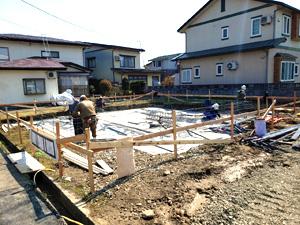 妙高市 新築 基礎工事