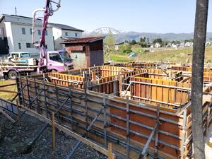 住宅新築 基礎工事