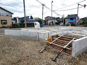 三和区 新築 基礎工事